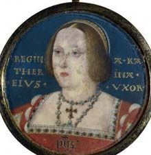 A miniature portrait of Queen Katherine of Aragon in 1525.