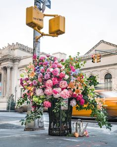 Floral artist Lewis Miller and his talented team arrange beautiful blooms in the most unexpected places in New York City. For nearly 3 years with his company, Lewis Miller Design, they worked on a very cleaver guerrilla marketing campaign: Wonderful Flowers, Fresh Flowers, Wild Flowers, Beautiful Flowers, Flower Power, My Flower, Flower Mandala, Flower Aesthetic, Art And Architecture
