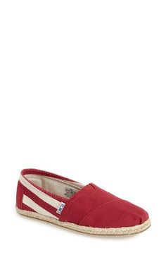 TOMS 'Classic - University Stripe' Slip-On (Women) available at #Nordstrom