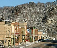 Lanesboro, MN; a gorgeous winter town with world-class skiing in Root River Valley