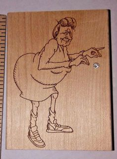 Diamonds ~ F645 Auntie Old LadyTwerking Humor Funny Rare ~ Rubber Stamp   #Diamonds