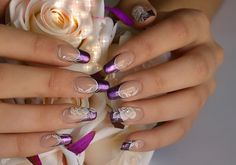 Purple wedding nail