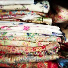 vintage eiderdown fabrics