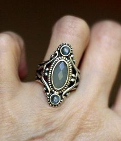 Carolyn-Pollack-Chalcedony-Sterling-Silver-Ring-Size-7