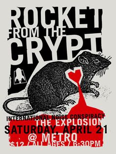Rocket From The Crypt   International Noise Conspiracy   The Explosion     Metro   4/2/2003   Artist: Aesthetic Apparatus