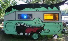 graffiti caravan schilderen verven pimpen pimp my caravan