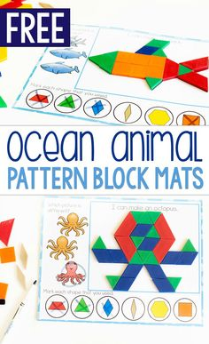 Kids love these pattern block mats! Kids love these pattern block mats!,vorschulprogramm handhaltung Free printable zoo animal pattern block activity for preschoolers. Grab these free printable pattern block mats for preschool zoo animal themes. Kindergarten Math Activities, Preschool Books, Free Preschool, Summer Themes For Preschool, Preschool Ocean Activities, Preschool Class, Preschool At Home, Preschool Printables, Preschool Learning