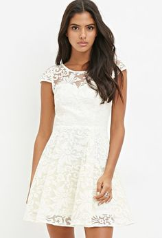Ornate-Embroidered Fit & Flare Dress   Forever 21 - 2000174913