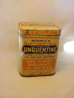 c1920s Norwich Unguentine The Nations Ointment by Bottlessoldcheap, $10.00