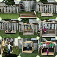 play house made from pallets