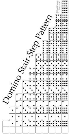 The domino stair-step pattern provides practice sorting, classifying, patterning, and sequencing. This is a great early math activity.