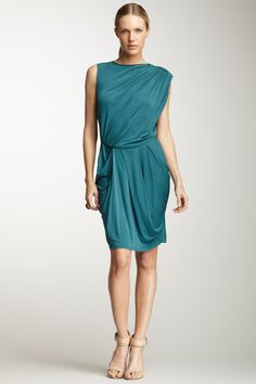 Ruched Dress. Absolutely adorable, except on me it would probably look like a poorly hung curtain.