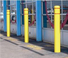 Yellow/Red Post Guard Bollard Covers