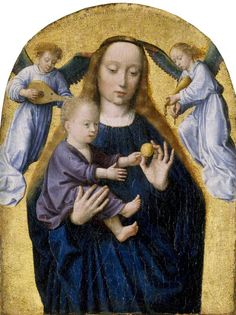 The Madonna and Child with Two Music-Making Angels