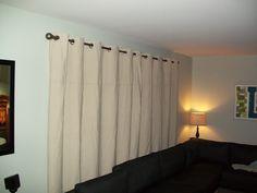 Make Grommet Blackout Curtains Out Of A Canvas Drop Cloth #diy #diynewbies