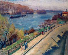 La Seine at La Frette  -   Albert Marquet,   French  1875-1947