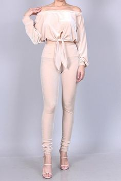 Crop Top & Leggings 2 Peice Set Velvet Off The Shoulder White / Cream Woman's Crop Top And Leggings, Velvet Fashion, Cream White, Off The Shoulder, Online Price, Crop Tops, Clothes For Women, Woman, Best Deals