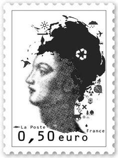 références \ referenzen rübimann design : timbre Marianne · Standardbriefmarke