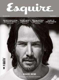 John Wick, Keanu Reeves, Hair And Beard Styles, Long Hair Styles, Arch Motorcycle Company, Esquire Uk, Sir Paul, Cute Actors, Long Hair Cuts