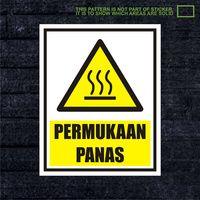 WSKPC119 Sticker K3 Safety Sign Warning Sign Permu