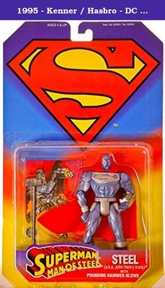 1995 - Kenner / Hasbro - DC Comics - Superman: Man Of Steel - Steel (a.k.a. John Henry Irons) Action Figure - w /. It's shipped off from Japan.