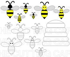 BEE 1-- ok the hive.. could be made from word punch... cute idea
