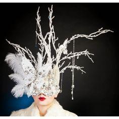 Swarovski® crystals Ice Queen Mask