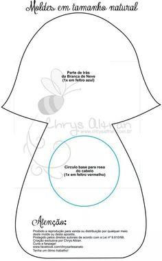 .molde tamaño natural de blancanieves -parte de atrás-
