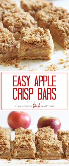 The apple crisp bars
