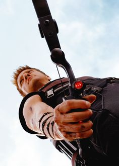 One of my favorite pictures of my fiance, Clint Barton. I love the angle for some reason.
