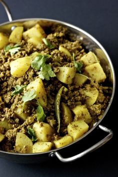 Kheema Aloo | Ground Meat and Potato Curry Nazneen October 29, 2013 Curries, Indian, Meat/Poultry, Recipe Index   Were there any foods that ...