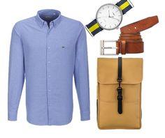 Meska koszula Lacoste i zegarek Timex