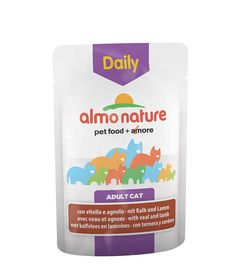 Almo Nature Daily Menu Cat With Veal And Lamb 70gPack of 30
