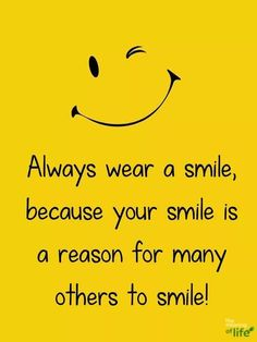 always smile and be happy Ravi Happy Friendship Quotes, Cute Happy Quotes, Girly Quotes, Positive Quotes, Motivational Quotes, Inspirational Quotes, Positive Thoughts, Always Smile Quotes, Smiley Quotes
