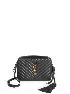 579e6b4e01f1fa Saint Laurent - Small Leather Matelasse Monogram Lou Camera Bag Beste  Designer Taschen
