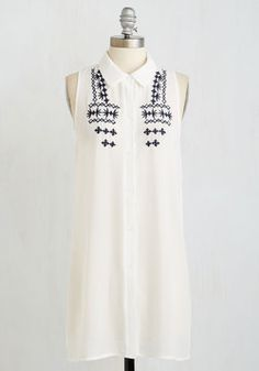 Poetry Slam Premier Tunic. Kick off your literary series with as much panache as you have attitude in this sheer white tunic! #white #modcloth