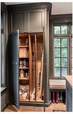 Laundry Room Cabinets, Laundry Room Organization, Diy Cabinets, Laundry Room With Storage, Kitchen Cabinets, Storage Cabinets, Small Laundry Rooms, Laundry Room Design, Garage Laundry Rooms