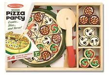 New Melissa & Doug Pizza Party Wooden Play Food Set With 54 Toppings in Toys & Hobbies, Preschool Toys & Pretend Play, Wooden & Handcrafted Toys Party Set, Party And Play, Wooden Play Food, Wooden Toys, Wooden Playset, Pizza Party, Pizza Chef, Pizza Pizza, Play Food Set