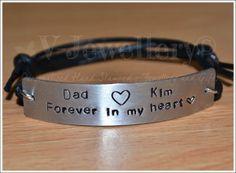 Personalised Wide Plate Bracelet
