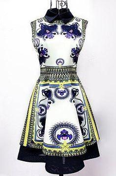 #RoseGal.com - #RoseGal Flat Collar Floral Print Sleeveless Dress For Women - AdoreWe.com