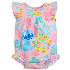 Stitch ''Beach Baby'' Cuddly Bodysuit for Baby - Trend Disney Party 2020 Cute Outfits For Kids, Toddler Girl Outfits, Boy Outfits, Toddler Girls, Baby Girls, Disney Baby Clothes, Cute Baby Clothes, Babies Clothes, Disney Babys
