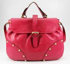 Mulberry Leahter Shoulder Bag with Studs
