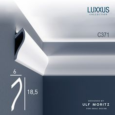 Kroonlijst Sierlijst Wandlijst voor indirecte Verlichting origineel Orac Decor C371 Shade Ulf Moritz LUXXUS  001