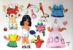 Anziehpuppen - Komplette Serien - Paper Dolls - papierpuppensammlerins Webseite!
