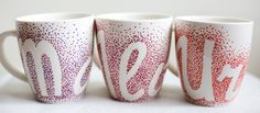 hand-painted mugs; 370ml / Kristi Palm Art