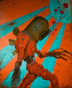 Some Post-Apocalyptic art. Afterman Mach II by Ennis Martin