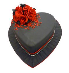 Cake by Genuine Cakes No One Loves Me, Valentines Day, Hearts, Sweets, Cakes, My Love, Desserts, Valentine's Day Diy, Tailgate Desserts