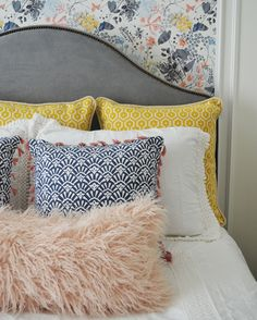 Bedroom makeover progress. She wanted a room with a little more color and flare…