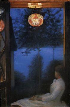 Oda Krohg,Japanese Lantern,1886