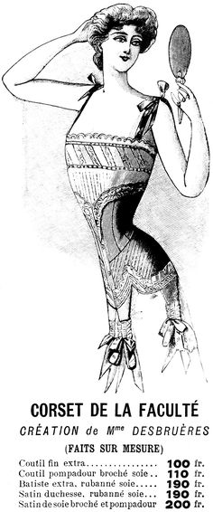 1901 French Corset Ad
